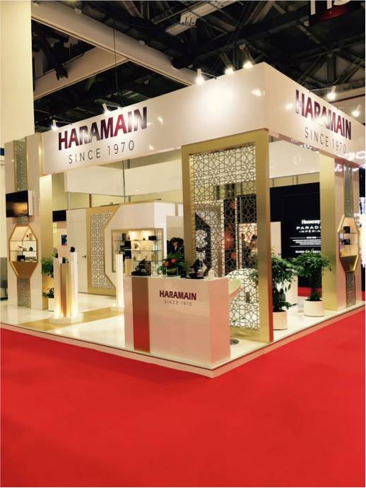 haramain exhibition booth at tfwa asia-pacific exhibition 2017 singapore